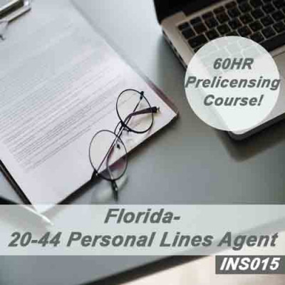 Florida 20-44 Personal Lines Agent - 60 hr - Pre-Licensing Course (INS015FL60)